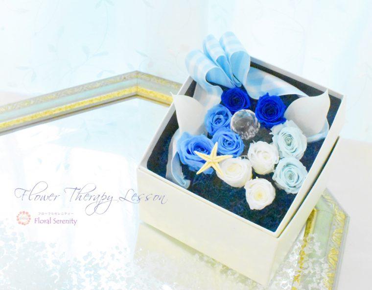 青いフラワーボックス