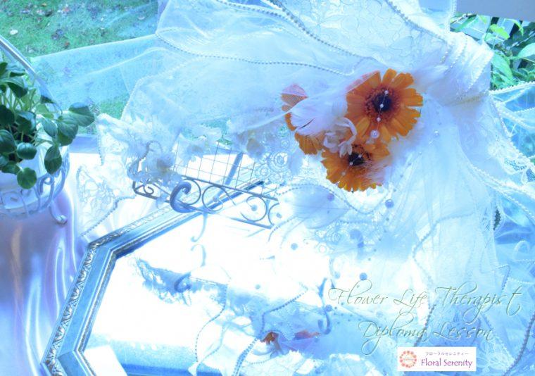 花育士資格コースの壁掛けアレンジ