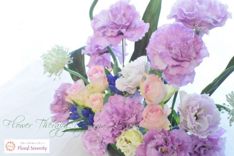 花育士資格コース紫のトルコキキョウ